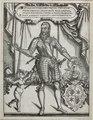 Zentralbibliothek Solothurn - In Kartusche GULIELMUS TUGGINERUS DICTUS FRÖLICH EQUE SENTOR SOLODORENSIS FRANCORUM REGIABEPULIS ATQUE HELVETIAE CUSTODIAE REGIUS PREAFECTUS ANNO A CHRISTO NATO 1575 AETATIS VEROSUAE 50 U - aa0294.tif