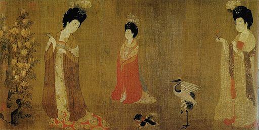 Zhou Fang. Court Ladies Wearing Flowered Headdresses.Detail2