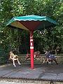 Zoo Landau Kinderkarusell drei Pferde.JPG