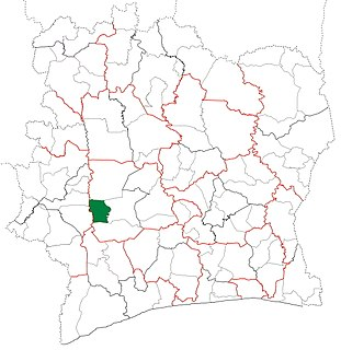 Zoukougbeu Department Department in Sassandra-Marahoué, Ivory Coast