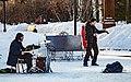 """""""Drummer and Dancer"""" - snow street musicians (33064791381).jpg"""