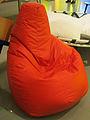 """ 12 - ITALY - Pouf Tuffet Sacco di Zanotta red armchair Triennale Design Museum.jpg"