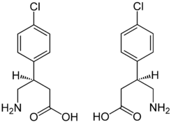 (±)-Baclofen Enantiomers Structural Formulae.png