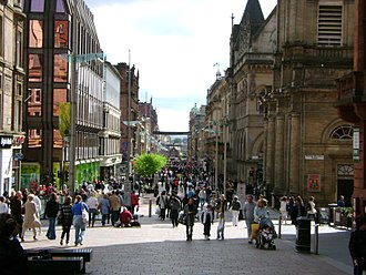 Glasgow effect - Buchanan Street, one of the main shopping areas in Glasgow city centre