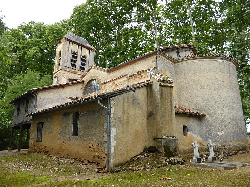 Église Notre-Dame de Castex d'Armagnac, dans le Gers.