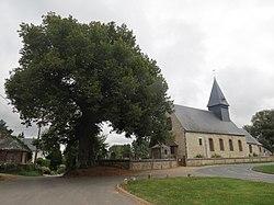Église et tilleul Mesnil-Raoul.JPG