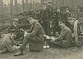 Équipe anglaise Napier en reconnaissance pour la coupe Bennett 1903 (1er plan G. à D. Stocks, Jarrott, et Edge).jpg