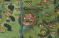 České Budějovice, Mapa schwarzenberských panství 1711.jpg