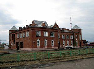 Azovsky Nemetsky National District - Building in Azovo, the administrative center of Azovsky Nemetsky National District