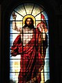 Исаакиевский собор, Санкт-Петербург. Витражная икона Спасителя в алтаре.jpg