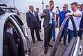 И.о. министра транспорта России Максим Соколов осматривает беспилотный автомобиль, май 2018 года.jpg