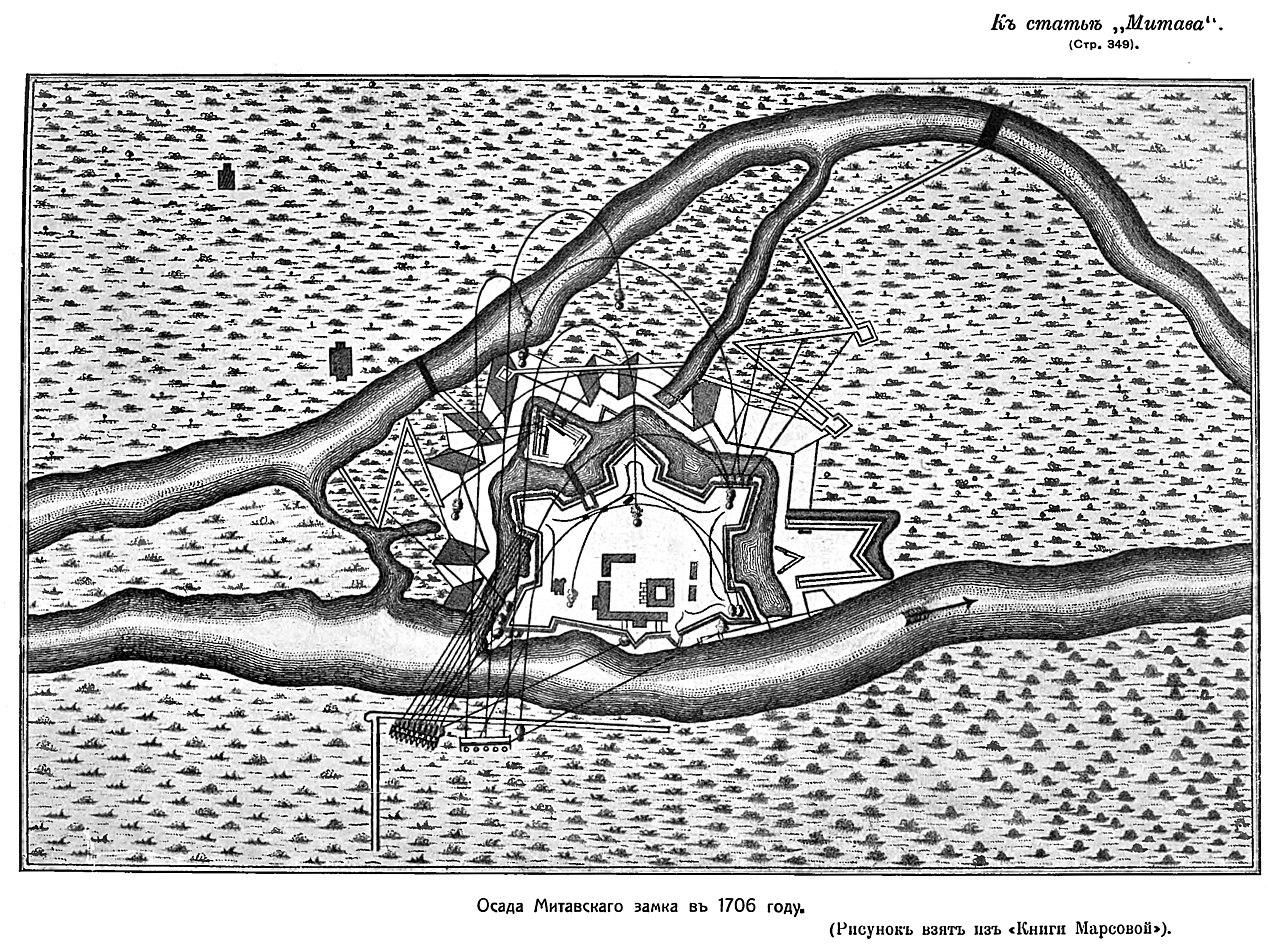 План осады Митавской крепости