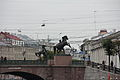 Мост Аничков с четырьмя скульптурными конными группами (Санкт-Петербург и Лен.область,через р. Фонтанку, по Невскому проспект).JPG