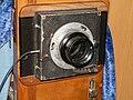 Объектив Индустар-51 на фотоаппарате большого формата.JPG