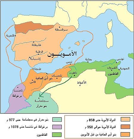 خريطة الدولة الأموية في الأندلس