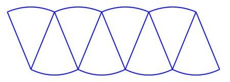 دایره بر هشت قطاع تقسیم شده .jpg