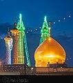 نمایی از حرم حضرت معصومه از مسجد اعظم.jpg