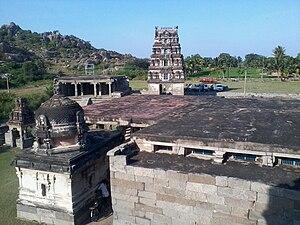 Avanibhajana Pallaveshwaram temple - Image of the temple campus