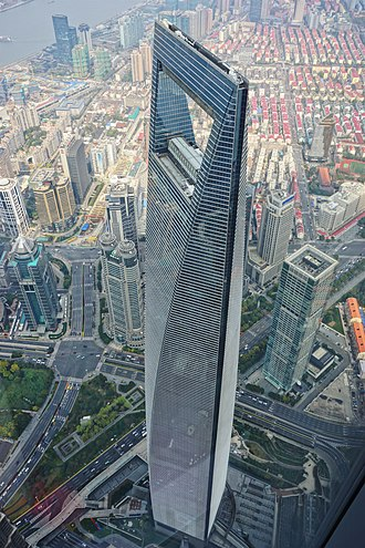 Shanghai World Financial Center - The Shanghai World Financial Center in March 2017