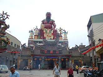 Chinese gods and immortals - A temple dedicated to Pangu in Zhunan, Miaoli.