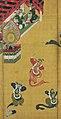 舞楽図屏風 ・唐獅子図屏風-Bugaku Dances (front); Chinese Lions (reverse) MET DP141398.jpg