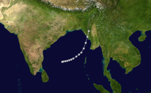 1964 North Indian Ocean cyclone season - Image: 01 B 1964 track