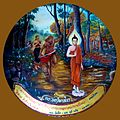 054 Angulimala cannot Catch up with Buddha who ordains him and he becomes an Arahant (9270708415).jpg