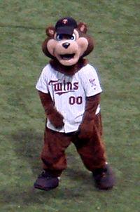 TC, the Twin's mascot.