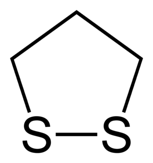 Dithiolane - Image: 1,2 dithiolane 2D skeletal