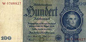 Wilhelm Trautschold - Banknote after the above portrait
