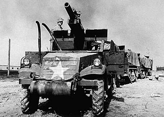 T19 Howitzer Motor Carriage - A T19 near Newport News, Virginia.