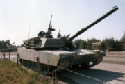 105mm cannon on an M1 Abrams tank, 1986