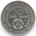 10 Mark DDR 1990 - 100 Jahre Internationaler Kampftag der Arbeiterklasse - Wertseite.JPG