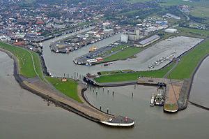 Büsum - Büsum harbour seen from above