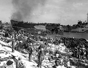 20th Marine Regiment (United States) - 121st NCB landing on Roi-Namur as 3rd Battalion 20th Marines. - - -   Seabee Museum Archives