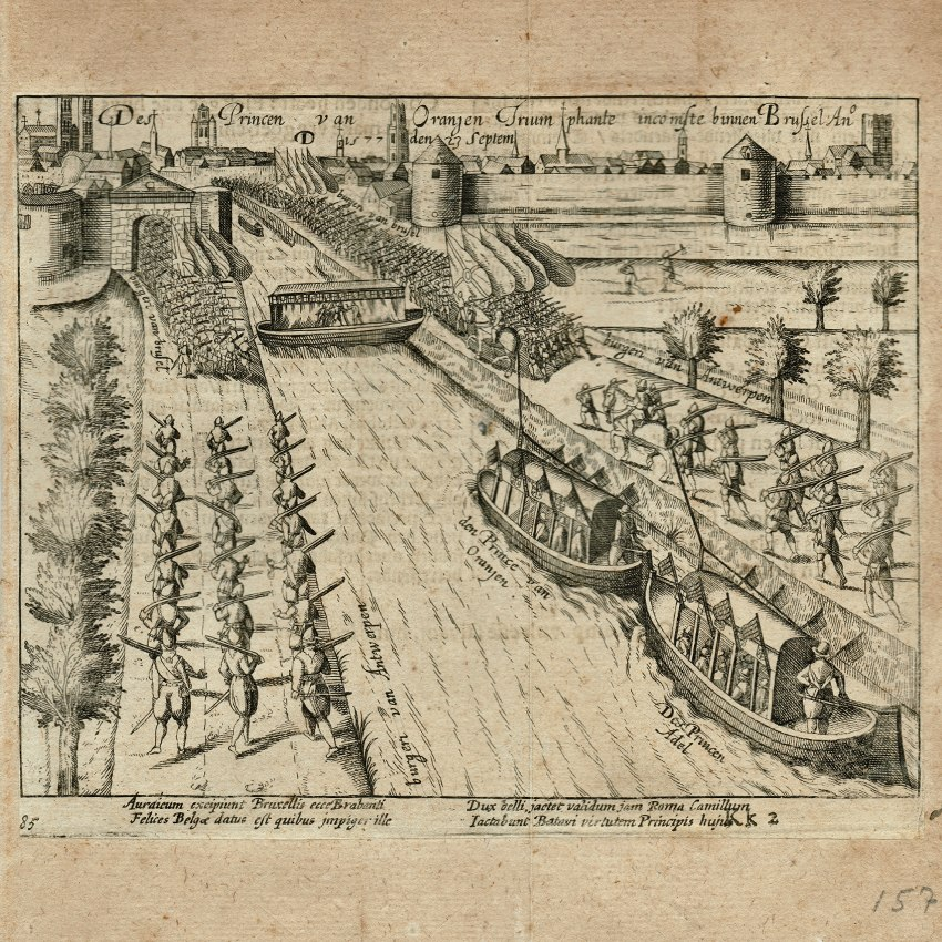 14-4002 Print Baudartius Triumphal entry of Prince of Orange in Brussels 1577 1