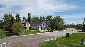 2013 Alberta floods - Abandoned homes - due to 2013 flood -  in High River, Alberta  ( 1600 Macleod Trail )   - slated to be moved.