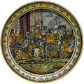 1740 Plate with Triumphal Entry of Alexander in Babylon anagoria.JPG
