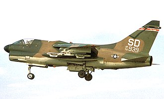 175th Fighter Squadron - Image: 175th Tactical Fighter Squadron A 7D 7 CV Corsair II 70 939