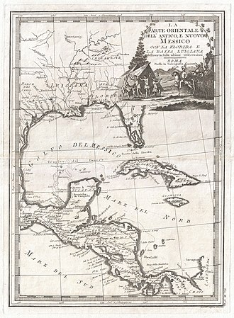 Central America, 1798 1798 Cassini Map of Florida, Louisiana, Cuba, and Central America - Geographicus - MessicoFlorida-cassini-1798.jpg