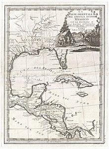 1798 Cassini Map of Florida, Louisiana, Cuba, and Central America - Geographicus - MessicoFlorida-cassini-1798.jpg
