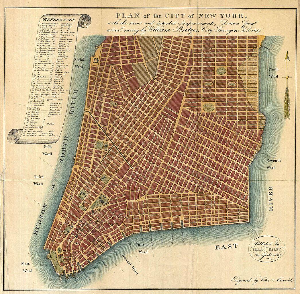 file1807 bridges map of new york city 1871 reissue geographicus newyork bridges 1871jpg