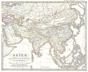 Đinh dynasty - Image: 1855 Spruner Map of Asia in the 9th and 10th Centuries Geographicus Asien IXX spruneri 1855