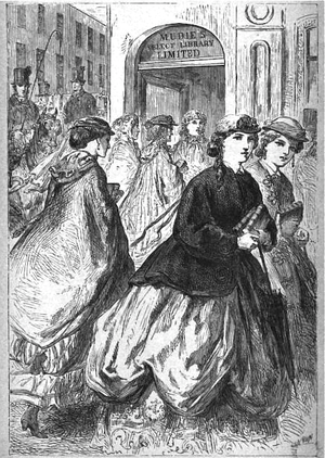 Charles Edward Mudie - Mudies Select Library, illustration in London Society, 1869