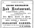 1875 Cross advert Main Street in Lexington Kentucky.png
