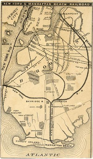 Evergreen Branch - 1878 map, including the Evergreen Branch to Greenpoint