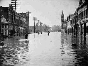1898 Georgia hurricane - Storm surge flooding in Brunswick, Georgia
