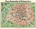 1920 Art Nouveau Monument Map of Paris, France - Geographicus - ParisMonumental-dutal-1920.jpg