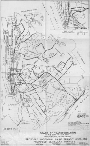 Proposed expansion of the New York City Subway - 1929 plan