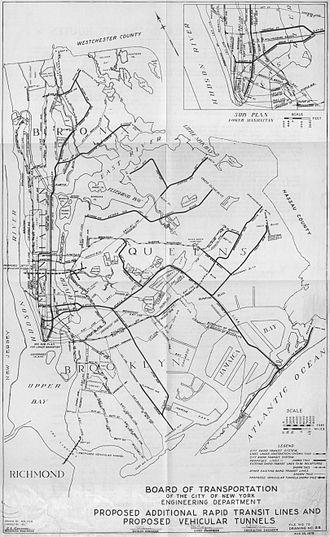 IND Fulton Street Line - Image: 1929 IND Second System